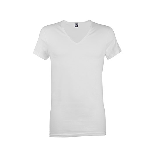 Alan Red t-shirt wit v-hals 2-pack