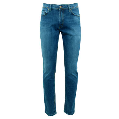 Duetz Tailors 1857 5-pocket jeans in stretch denim licht blauw