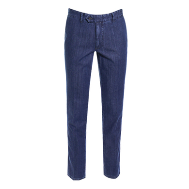 Floris Duetz pantalon denim blauw