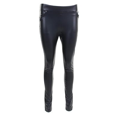 Mila Jeans zwarte leatherlook legging