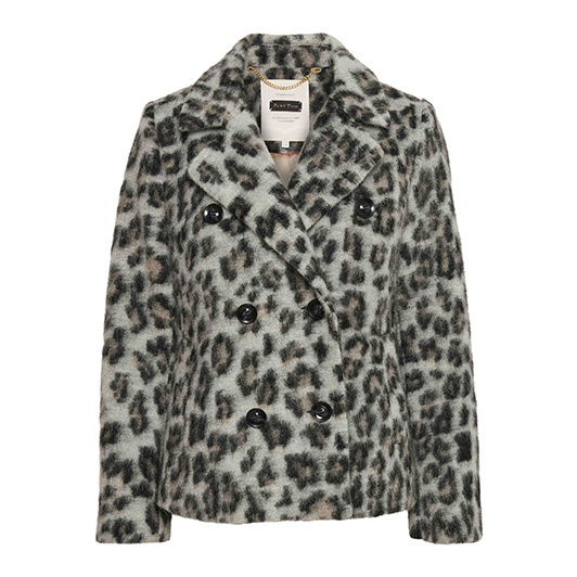 Part Two wollen peacoat jas print