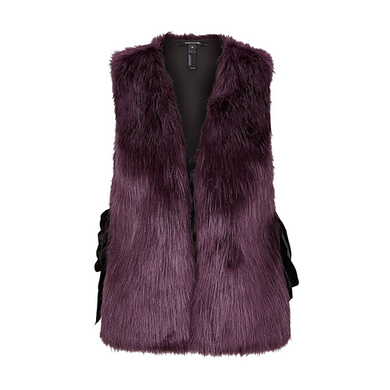 Comma faux fur body warmer paars