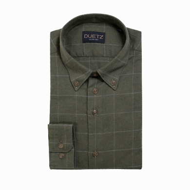 Duetz 1857 casual overhemd brushed