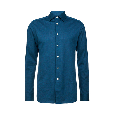Eton overhemd jersey piqué in slim fit