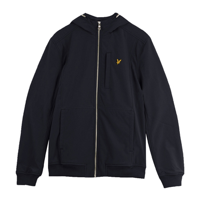 Lyle & Scott soft shell jack donker blauw