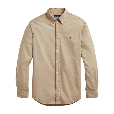 Ralph Lauren Overhemd uni light oxford washed beige