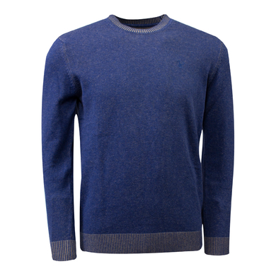 Eagle & Brown o-hals trui organic cotton kobalt blauw