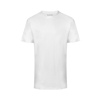Slater T-shirt Basic 2-pack Wit