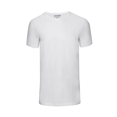 Slater T-shirt Basic 2-Pack Ronde Hals Wit