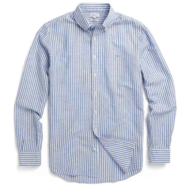 McGregor Overhemd Buttondown Gestreept Blauw