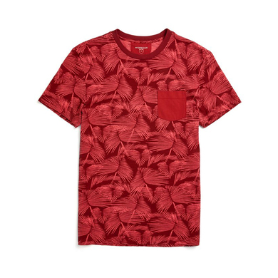 McGregor T-shirt Regular Fit Tropische Print Rood
