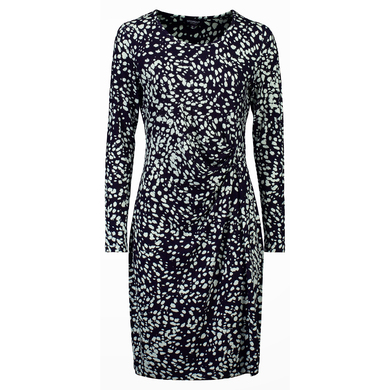 Bloomings Jurk Print Stippen Navy