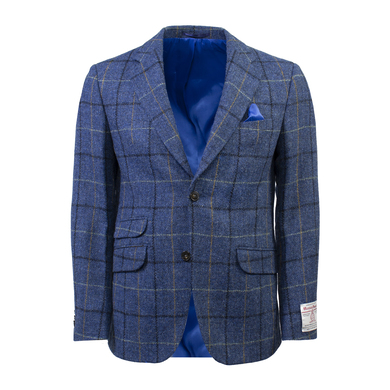 Wellington Colbert London Harris Tweed Ruit Blauw