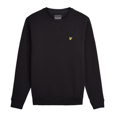 Lyle & Scott Sweater Ronde Hals Zwart