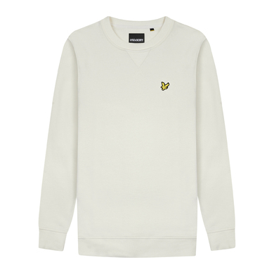 Lyle & Scott Sweater Ronde Hals Ecru