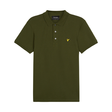 Lyle & Scott Polo Korte Mouw Stretch Donkergroen