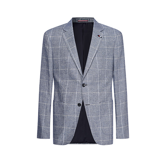 Tommy Hilfiger Tailored Blazer geruit Blauw