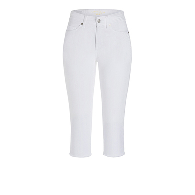 Cambio broek driekwart wit light superstretch